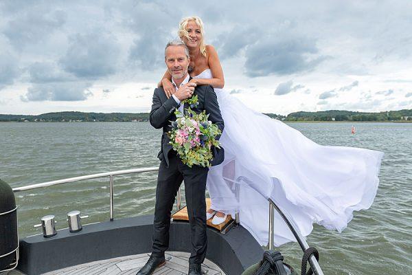 Freie Trauungen auf dem Selliner See und dem Meer mit dem Hochzeitsschiff Darie im Ostseebad Sellin auf Rügen