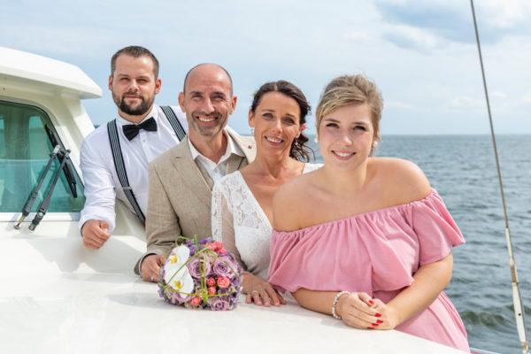 Freie Trauungen auf dem Wasser mit dem Hochzeitsschiff Darie im Ostseebad Sellin auf Rügen