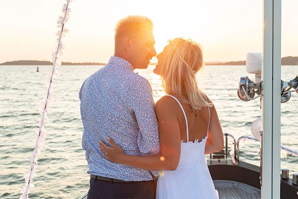 Heiraten auf dem Meer und der Ostsee mit dem Hochzeitsschiff Darie auf Rügen