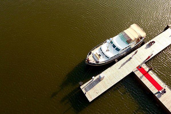Trauung auf dem Wasser mit dem Hochzeitsschiff Darie im Ostseebad Sellin auf Rügen