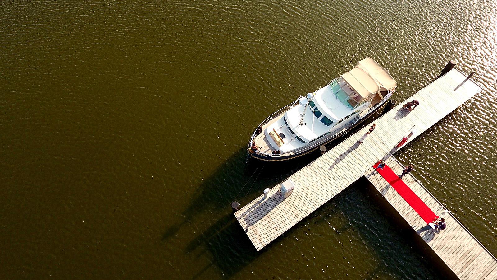 Heiraten auf dem Wasser mit dem Hochzeitsschiff Darie im Ostseebad Sellin auf Rügen