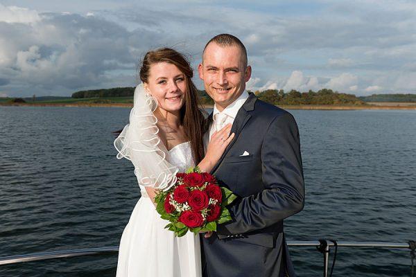 Heiraten auf dem Wasser mit dem Hochzeitsschiff Darie vom Photohaus Knospe im Ostseebad Sellin auf Rügen