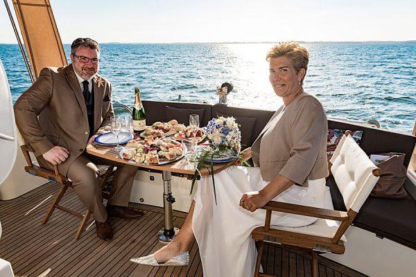Trauung auf See mit dem Hochzeitsschiff Darie in Sellin auf der Insel Rügen – offizielle Außenstelle vom Standesamt Mönchgut-Granitz