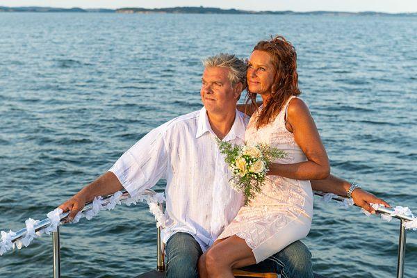 Romantische Heirat auf der Ostsee mit der MS Darie vom Photohaus Knospe im Ostseebad Sellin auf Rügen